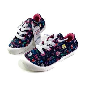 LiL' BOBS Girls Dog Lover Canvas Lace Up Sneaker